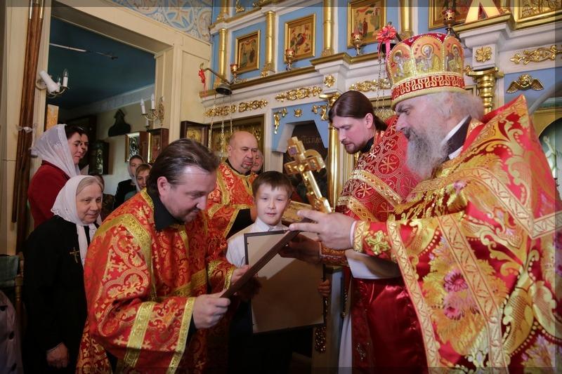 Престольный праздник и освящение поклонного креста