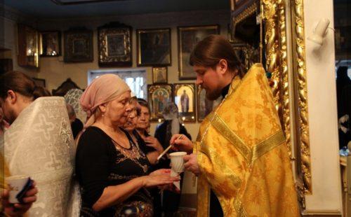 Соборование в храме