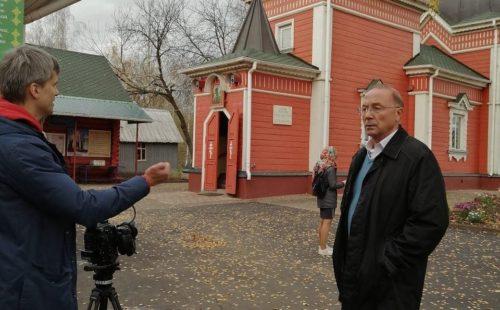 В храме прошли съемки фильма о Викторе Николаеве