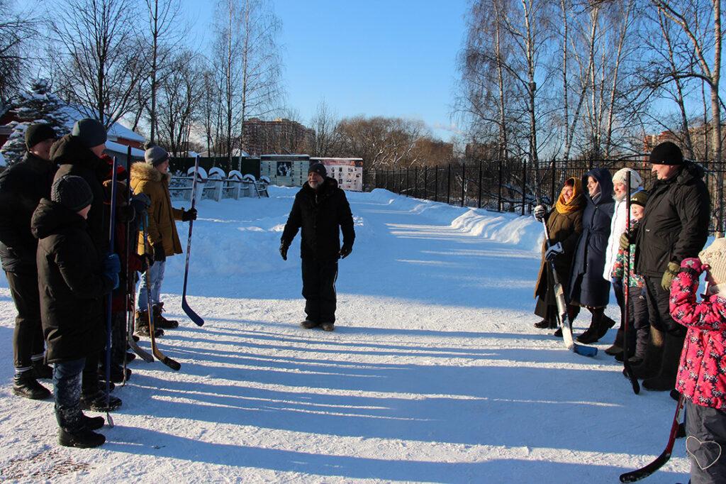 Хоккейный матч.