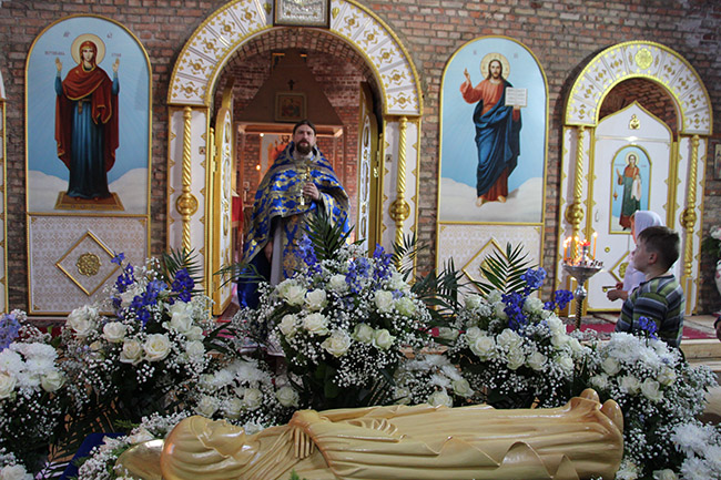 Литургия в праздник Успения Пресвятой Богородицы.