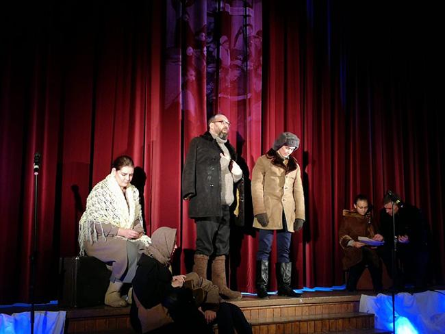 26 сентября театральный коллектив при Георгиевском храме  показал спектакль «Вечный апрель»