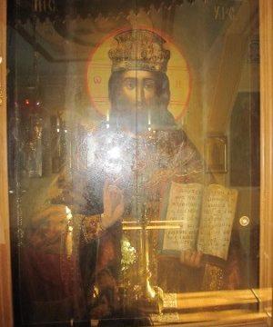 Частица Гроба Господня (икона Спасителя)
