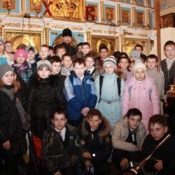 Встреча настоятеля храма с учениками 2012