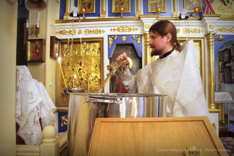 Служба в храме Крещение