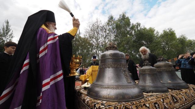 Освящение колоколов храма Ивантеевка